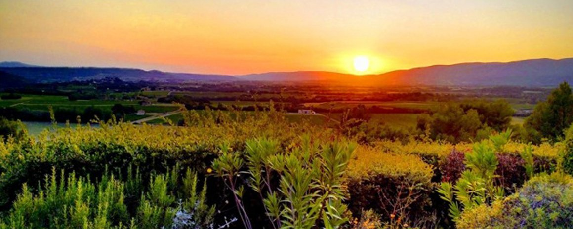 Magnificent sunsets in the Luberon
